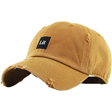 KBETHOS Lit Patch Finesse Self Made Dad Hat Baseball Cap Polo Style Unconstructed Cotton Adjustable