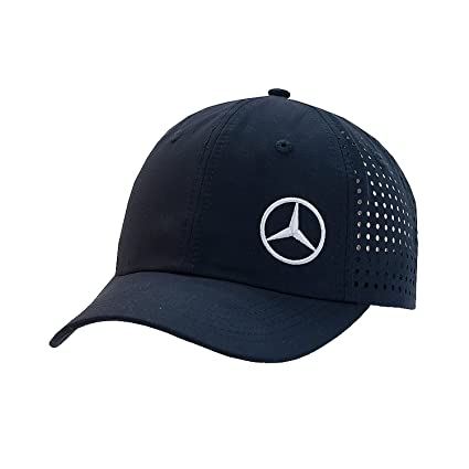Mercedes-Benz Jacquard cortado con láser azul marino gorra de ...