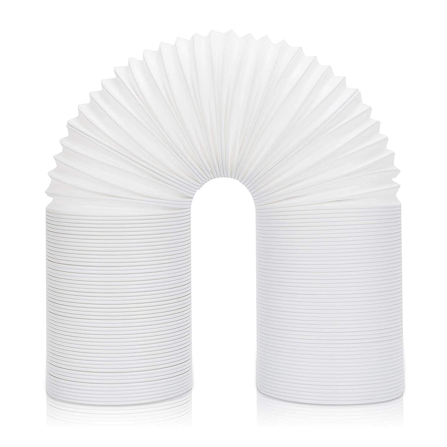 Portable Air Conditioner Exhaust Hose - 5in Diameter, 79in Extended - Universal Fit Replacement AC Tube - Counter Clockwise Threads Air Conditioner Hose - Portable AC Exhaust Hose