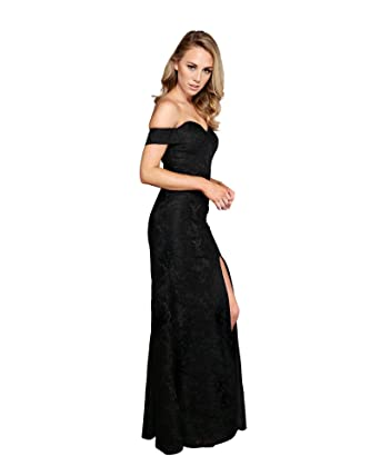 ROXCII GRACE Black Couture Styling Stunning Evening Dress Night Dress Long Prom Gown