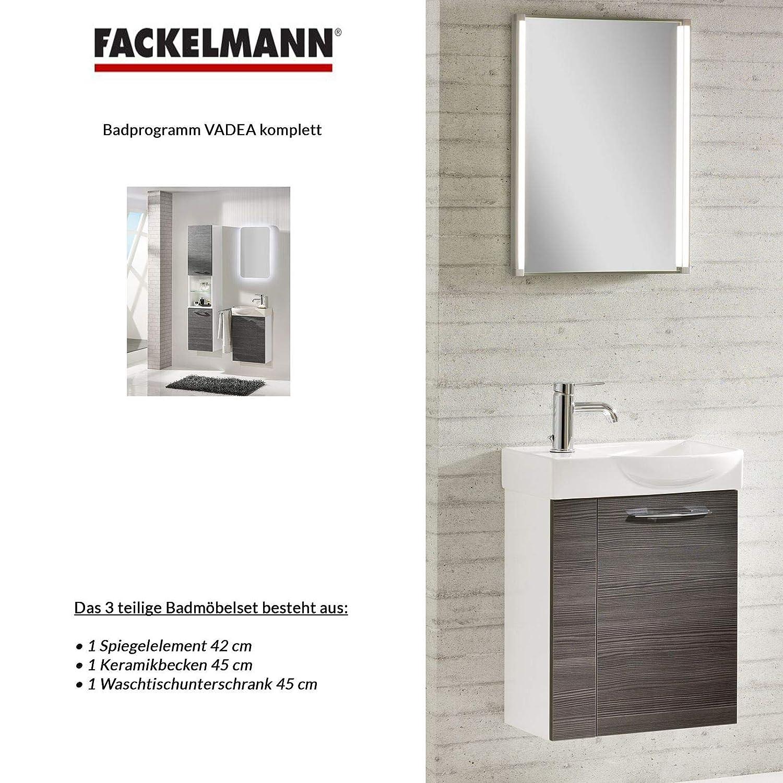 Fackelmann Badmöbel Set Vadea Gäste Wc 3 Tlg 45 Cm Anthrazit Weiß