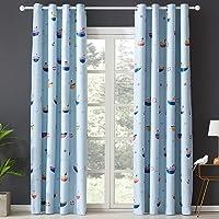 Topfinel Printed Grommet Sheer Curtinas for Kids Bedroom Living Room, 2 Panels