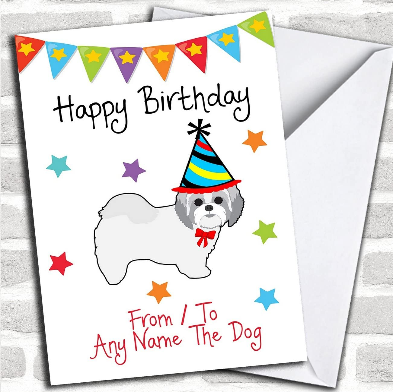 For men or Boys Shih-Tzu Cards ASSORTED 3PK Children or Adult Birthday Greetings  to from dog lover by Juniperlove Greetings UK