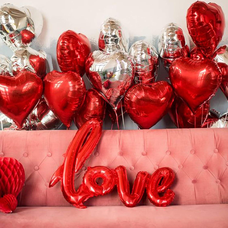 Valentines Balloons Valentines Decor Love Balloons Valentine Decorations Valentines Day Decorations Heart Balloons PartyWoo Valentines Day Balloons 41 pcs Valentines Day Decor