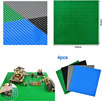 Tables /& More Blue White Sand Gray Strictly Briks Classic Baseplates 6 x 6 Building Brick Base Plates 100/% Compatible with All Major Brands Green Black Baseplates for Building Towers