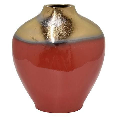 Amazon.com: Jarrón de cerámica con tres manos, 15.6 in ...