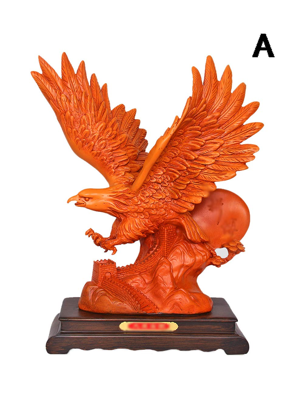 装飾品、樹脂素材のアートワーク、ヨーロッパスタイルの装飾、創造的な動物のイーグル工芸品 (三 : A) A  B07JQ1BDQH