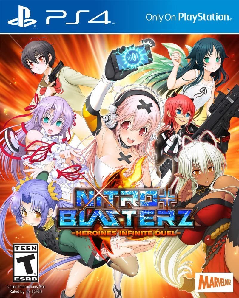 Amazon com nitroplus blasterz heroines infinite duel playstation 4 marvelous usa inc video games