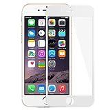 iphone 6 6s 強化ガラスフィルム 全面フルカバー 液晶保護 3Dラウンドエッジ加工 気泡ゼロ 耐衝撃 飛散防止 指紋防止加工 0.33mm 硬度9H(Iphone 6/6s, ホワイト)