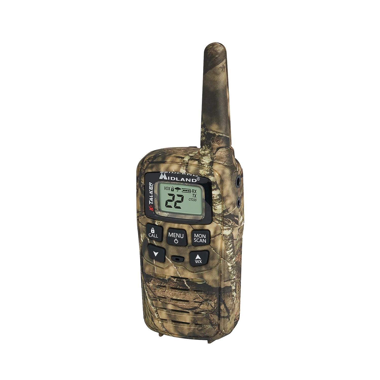 Midland NOAA Weather Alert X-TALKER T35VP 22 Channel FRS Walkie Talkie 38 Privacy Codes Up to 26 Mile Range Two-Way Radio Pair Pack Mossy Oak Camo Midland Radio Corporation
