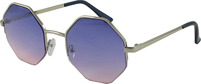 ad8f695e0ef Octagon  Oceanic  Colour Retro Unisex Sunglasses (Lilac)  Amazon.co ...