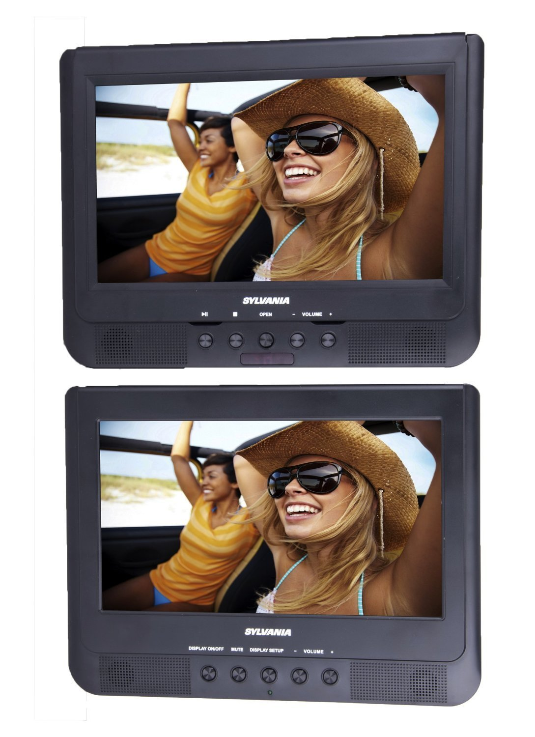 Proscan/Sylvania PDVD1037/SDVD1037 10.1-Inch Dual Screen Portable DVD Player (Certified Refurbished)