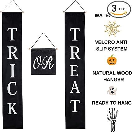 Amazon.com: Halloween Decor Trick o Treat Juego de puertas ...