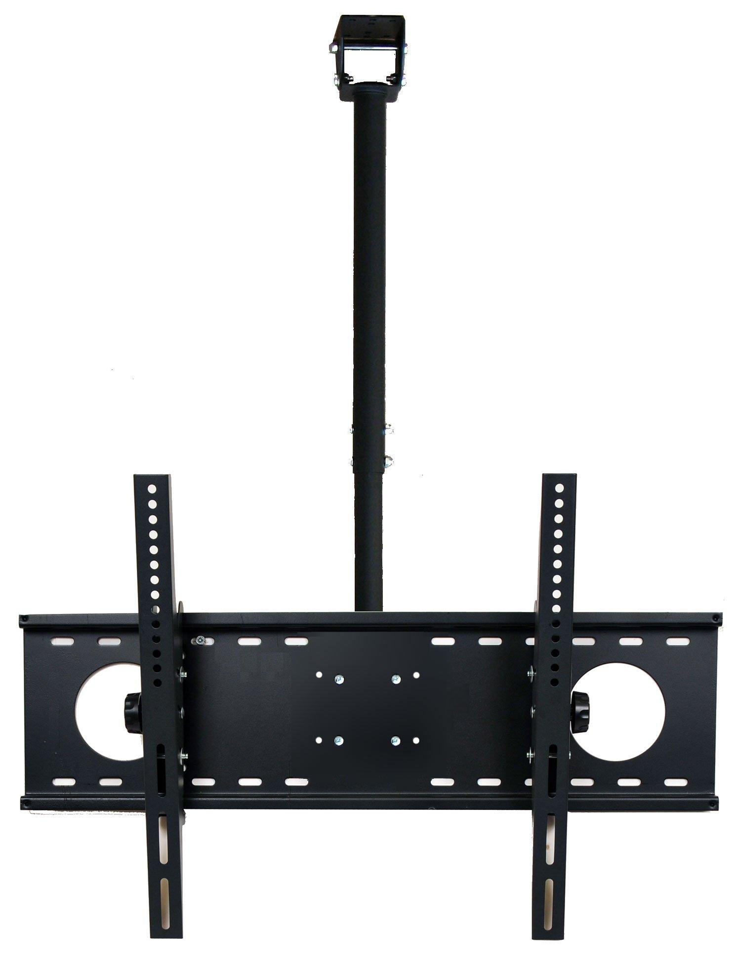 VideoSecu LCD Plasma Flat Panel TV Ceiling Mount Bracket for Most 37-60'' Plasma TV Flat Panel Displays, Some up to 75'' LED TV with VESA 200x200 400x400 600x400 680x460mm MPC53B 1S5