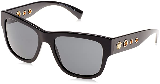 7471ec77ecf07 Amazon.com  Versace Men s VE4319 Black Dark Grey  Clothing