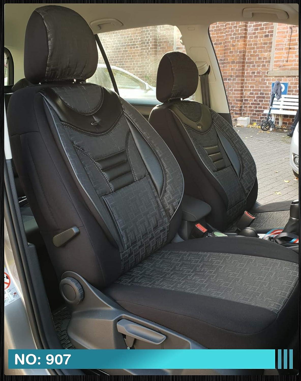 907 D231 Fahrer /& Beifahrer ab BJ 2015 Farbnummer Ma/ß Sitzbez/üge kompatibel mit Nissan Navara IV 4 Gen