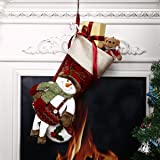"""Codream 18"""" Christmas Stocking Lovely 3D Snowman Classic Holiday Xmas Stocking Your Family Will Love ( 18""""x10"""" Snowman)"""