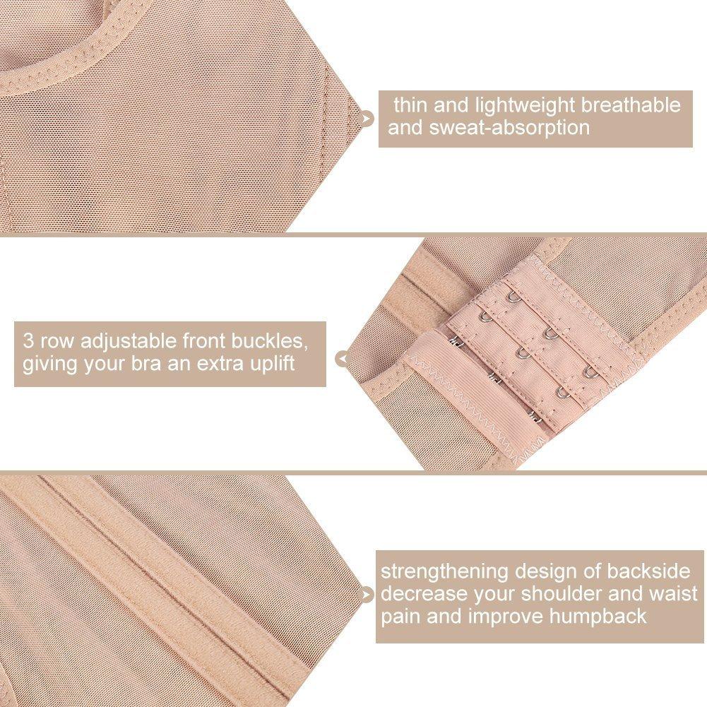 Banda correttore postura per supporto spalla posteriore Tipo di rinforzo sul retro Gilet per scolpire il corpo in modo da impedire il gobba sul petto Intimo seno regolabile da donna S