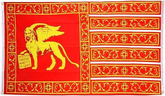 Flaggenfritze – Bandera de balcón Bandera italia Venecia República 697 – 1797 – 90 x 150 cm: Amazon.es: Jardín