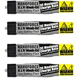 180mAh 45C - Fight Time and Power Battery Upgrade - Fits All: Blade Nano QX, QX FPV, Tiny Whoop,UMX Radian, Blade Inductrix, Champ, Sport Cub S (Pack of 4)