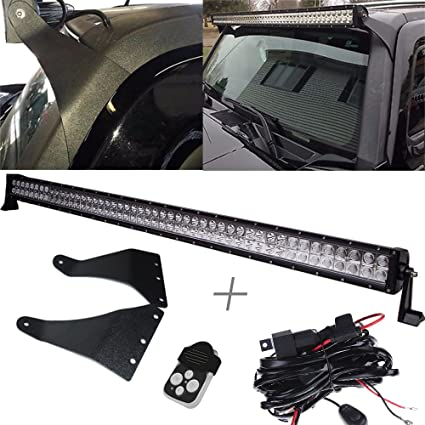 Amazon uni filter 50 288w straight led light bar w1lead uni filter 50quot 288w straight led light bar w1lead wiring harness remote control aloadofball Image collections