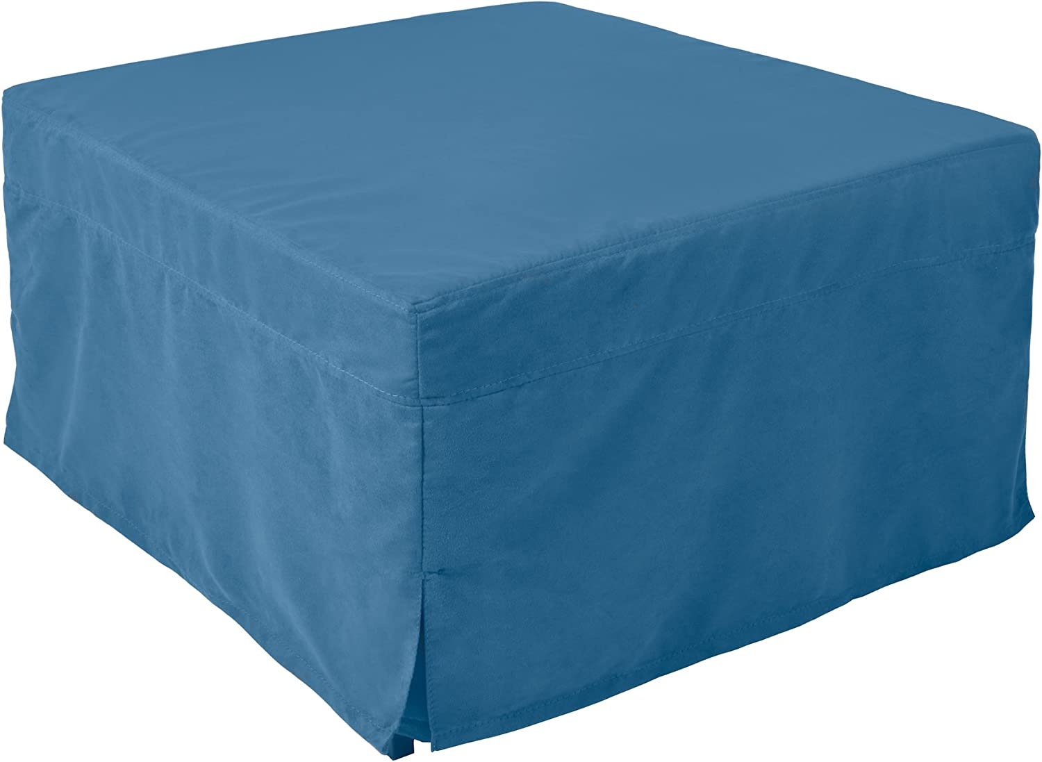 Nova Furniture Group Magical Ottoman Sleeper Fold Out Guest Bed with Microfiber Slipcover, Blue