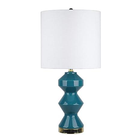 e49a2f5ec84d Watch Hill 26'' Aurora Ceramic Linen Shade Dark Teal Table Lamp - -  Amazon.com