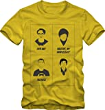 Style Address Men's Cotton T-Shirt (Yellow, XL)