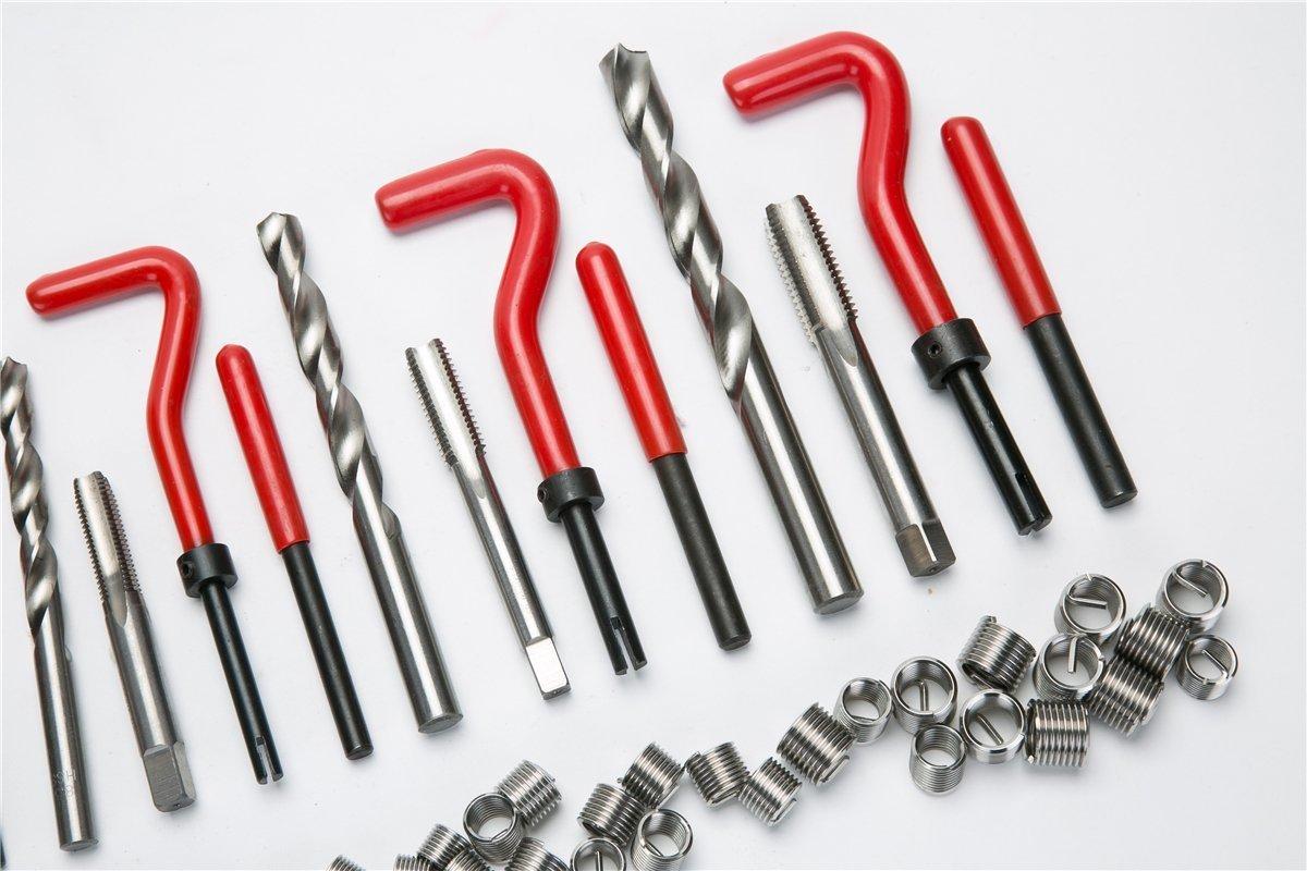 helicoidal M12 M6 para motor broca M12 FreeTec M8 Juego de 131 piezas para reparaci/ón de roscas para autom/óvil casquillo roscado M10