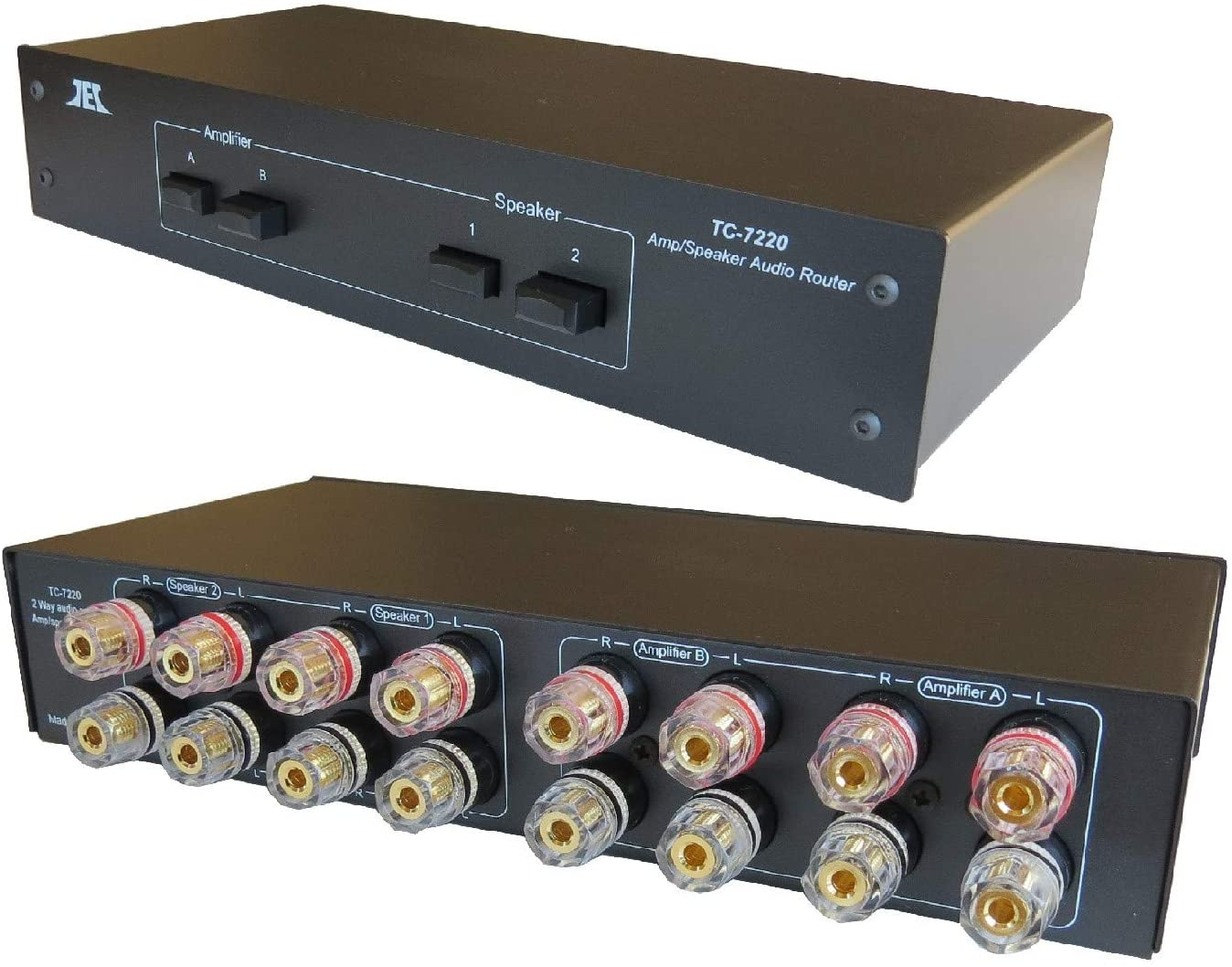 TC-7220 2-Way Amplifier Speaker Selector Switch Switcher Comparator Crossover Router