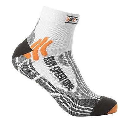 X-Socks Speed One - Calcetines deportivos unisex white/black Talla:35-