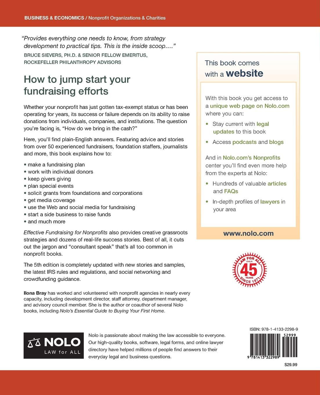 Effective Fundraising for Nonprofits: Real-World Strategies That Work:  Ilona Bray JD: 9781413322989: Amazon.com: Books