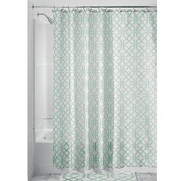 Amazon Com Interdesign Trellis Fabric Shower Curtain X