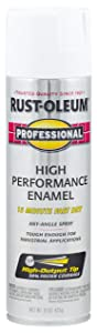 Rust-Oleum 7592838 - 6 PK Professional High Performance Enamel Spray Paint, 15 oz, Gloss White, 6 Pack