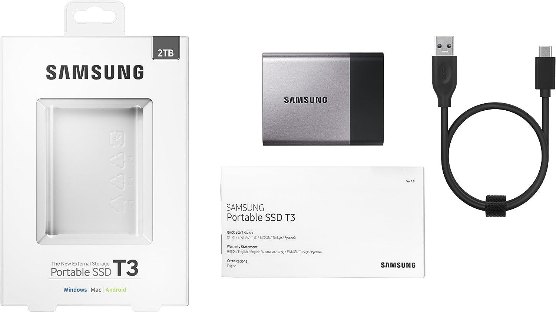 Samsung T3 - Disco SSD portatíl (Capacidad 2 TB, USB 3.1, 3.0 y ...