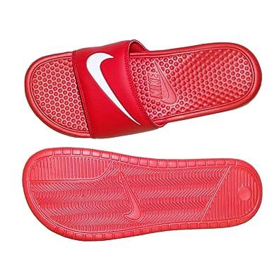 Nike Men's Benassi Swoosh Sandal University Red/White 312618 610 Size 16