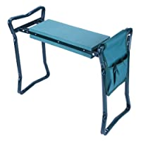 GreenWise ® Foldable Kneeler and Garden Seat Portable Stool with EVA Kneeling Pad and Tool Pouch
