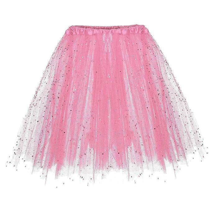 5afac550692cbc ... Petticoat Reifrock Unterrock Petticoat Underskirt Crinoline für  Rockabilly Kleid Damen 50er Vintage Tüllrock Petticoat Mehrfarbig Bubble  Tanzkleid Rock: ...