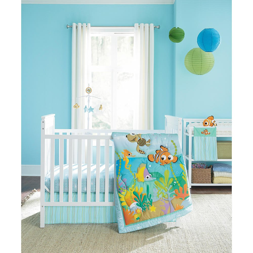 Amazon com   Disney Baby Finding Nemo 4 Piece Crib Bedding Set   Finding  Nemo Nursery   Baby. Amazon com   Disney Baby Finding Nemo 4 Piece Crib Bedding Set