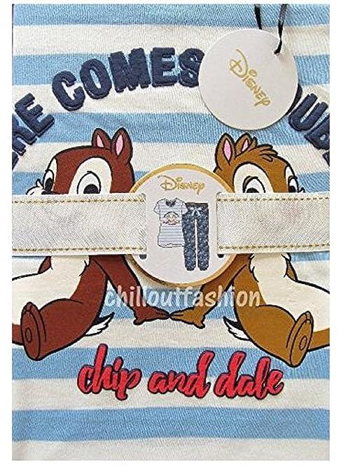 Primark Ladies Girls Womens Disney CHIP & Dale Pajamas Pyjamas T Shirt PJ Set UK S-XL (UK S 6-8) at Amazon Womens Clothing store: