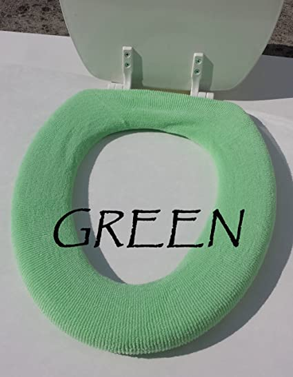 Toilet Seat Warmer Cover.Bathroom Toilet Seat Warmer Cover Washable Green