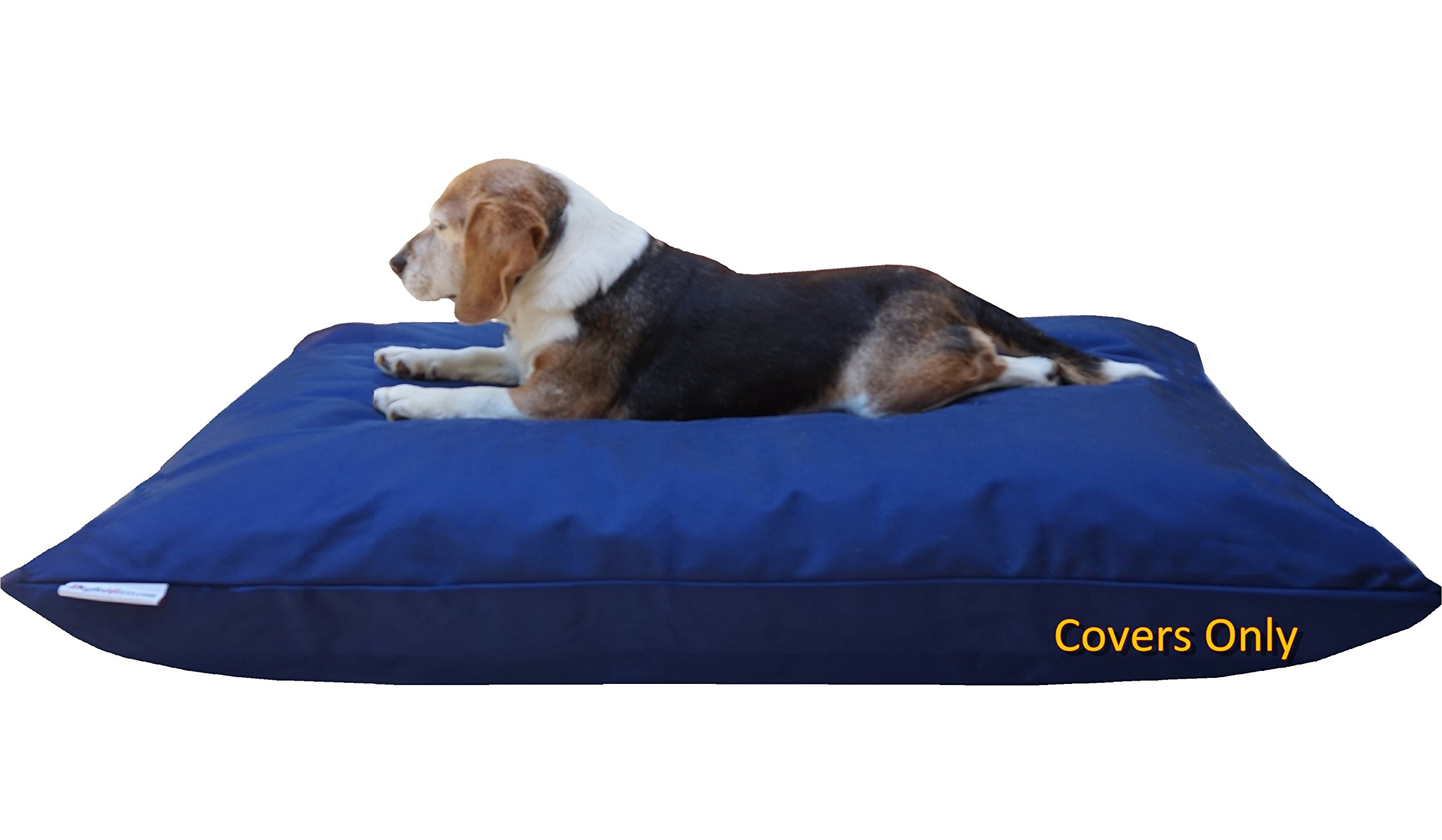 Dogbed4less Do It Yourself DIY Pet Bed Pillow Duvet 1680 Nylon Durable Cover and Waterproof Internal case for Dog/Cat at Large 48''X29'' Blue Color - Covers only