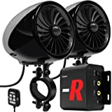 "GoHawk TJ4-R Amplifier System 4"" Full Range Waterproof Bluetooth Motorcycle Stereo Speakers 1 to 1.5 in. Handlebar Mount Amp"