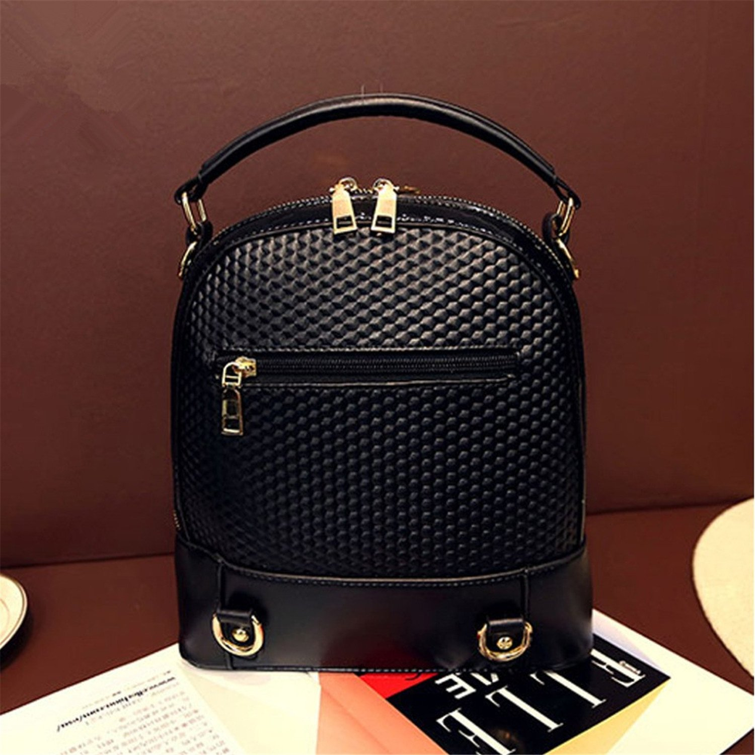 Fashion Multifunctional Women Leather Backpack Tassel Double Shoulder Bags For Teenage Girls Mochila Bolsa