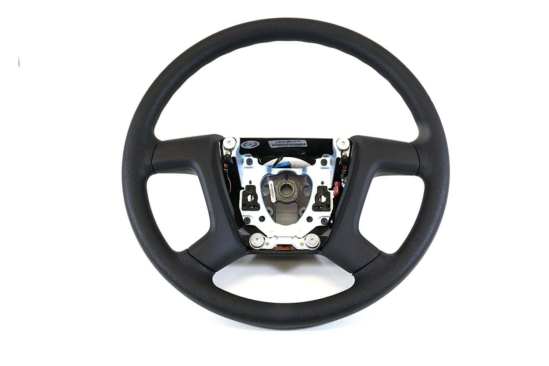 OEM Steering Wheel w//out Controls Black Leather 07-14 Silverado Sierra 22947803