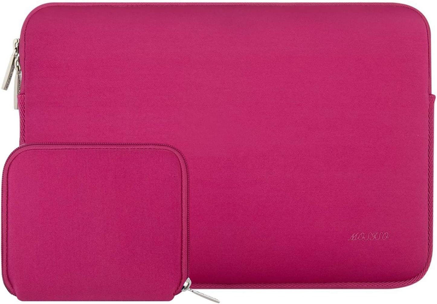 MOSISO Laptop Sleeve Compatible with 13-13.3 inch MacBook Pro, MacBook Air, Notebook Computer, Water Repellent Neoprene Bag with Small Case, Rose Red