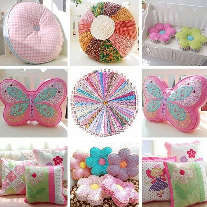 100 piezas de tela de 15 x 15 cm de diferentes patrones para ...