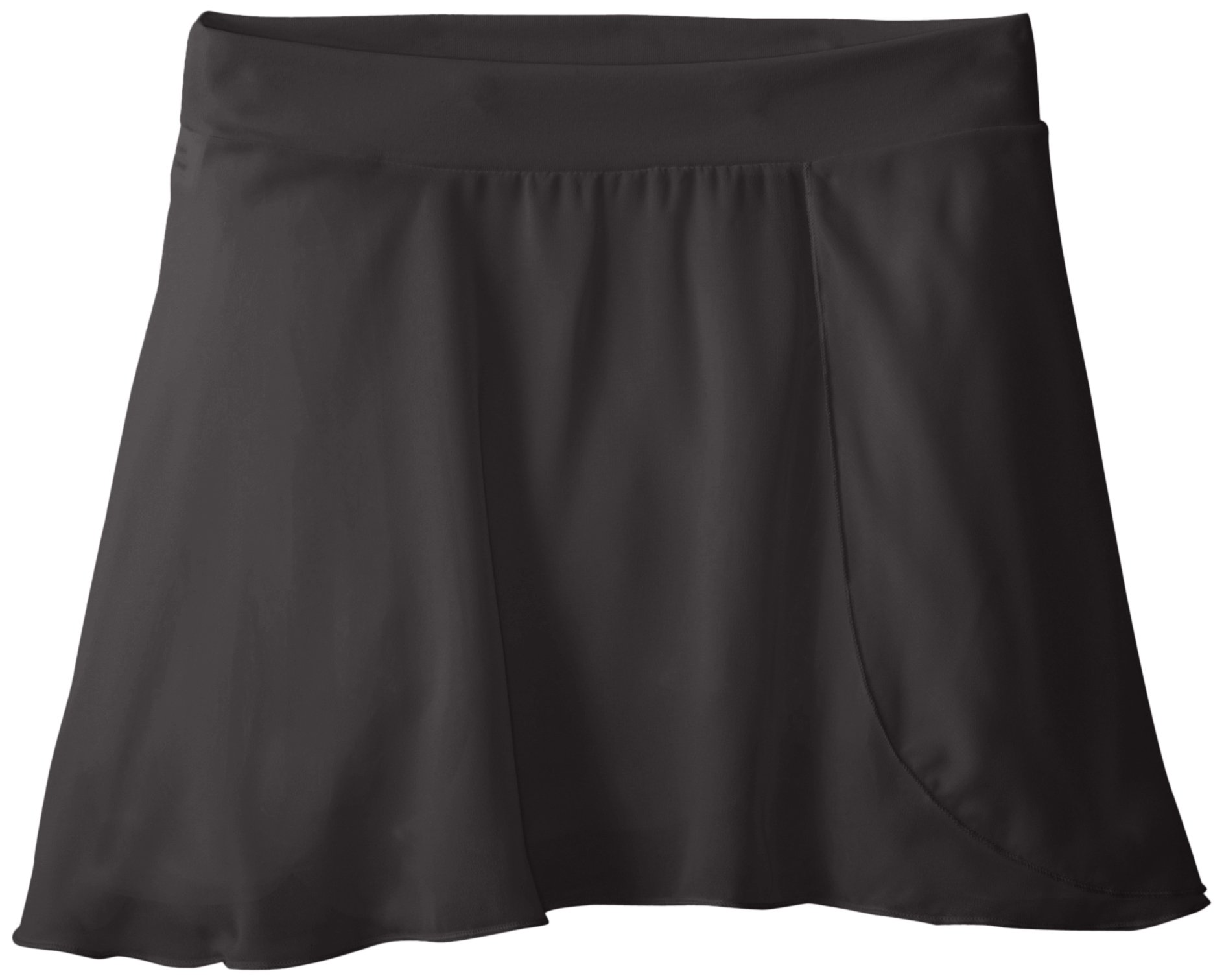 Capezio Big Girls' Tactel Collection Pull-On Skirt, Black, Large (12-14)