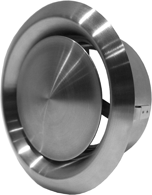 Valve en acier inoxydable /Ø 100 mm Grille da/ération r/églable Valve de ventilation Diffuseur Soupape de sortie dair