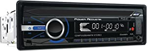 POWER ACOUSTIK PCD-41 in-Dash Single DIN CD/MP3 AM/FM Receiver with 32GB USB Input and Removable Faceplate